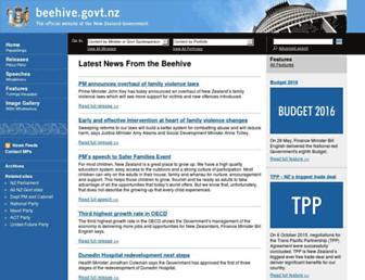 beehive.govt.nz screenshot