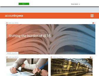 accountingweb.co.uk screenshot