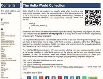 helloworldcollection.de screenshot