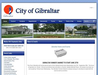 Main page screenshot of cityofgibraltar.net
