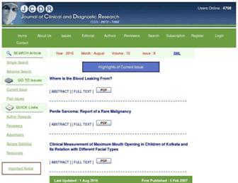 jcdr.net screenshot