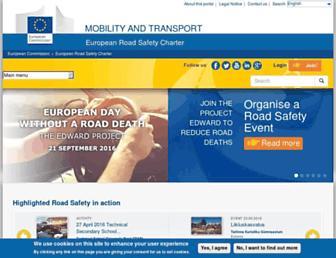 Main page screenshot of erscharter.eu