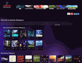 Main page screenshot of desktopwallpapers.co.uk