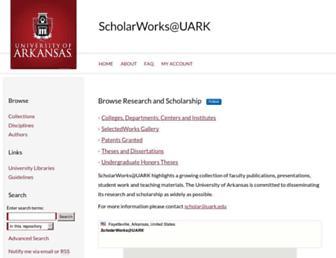 scholarworks.uark.edu screenshot