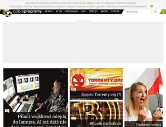 Main page screenshot of dobreprogramy.pl