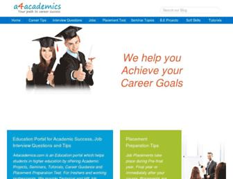 a4academics.com screenshot