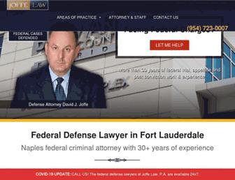 joffefederaldefense.com screenshot