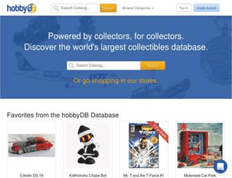 hobbydb.com screenshot