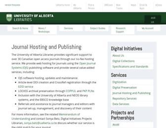 journals.library.ualberta.ca screenshot