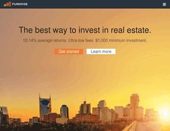 fundrise.com screenshot