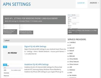 apnsettings.org screenshot