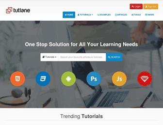 tutlane.com screenshot