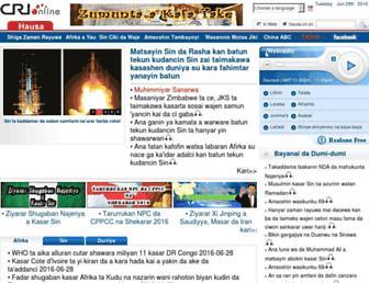 Main page screenshot of hausa.cri.cn