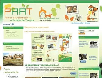 Main page screenshot of paat.es