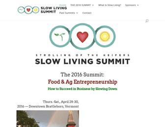 Main page screenshot of slowlivingsummit.org