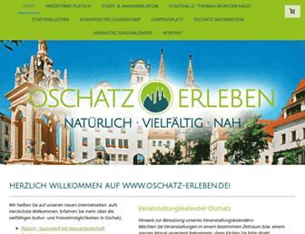 Main page screenshot of oschatz-erleben.de