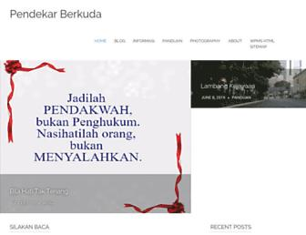 Main page screenshot of pendekarberkuda.org
