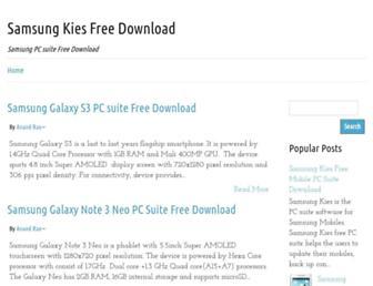 samsung-kies-download.blogspot.com screenshot