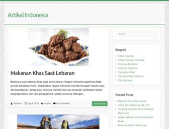 artikel-indonesia.com screenshot