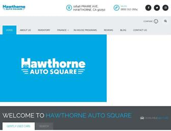 hawthorneautosquare.com screenshot