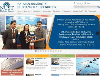 nust.edu.pk screenshot