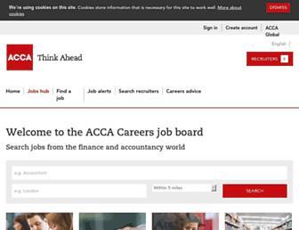 jobs.accaglobal.com screenshot