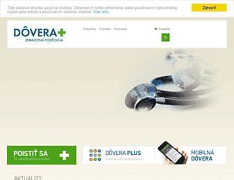 Main page screenshot of dovera.sk