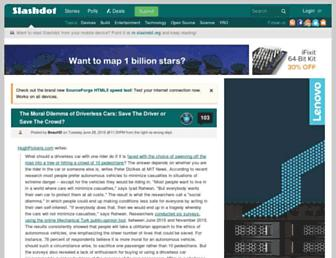 Main page screenshot of slashdot.org