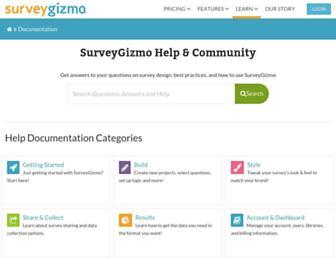 help.surveygizmo.com screenshot