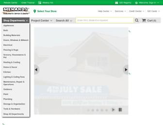 menards.com screenshot