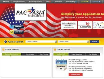 Main page screenshot of pacasia.org