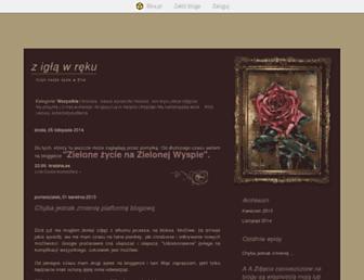 Main page screenshot of mamaniuni.blox.pl