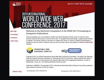 papers.www2017.com.au.s3-website-ap-southeast-2.amazonaws.com screenshot