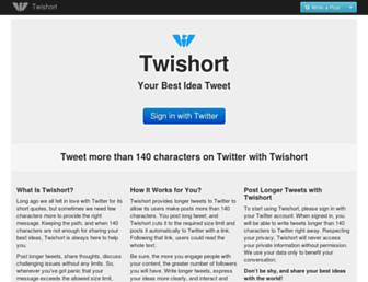 twishort.com screenshot