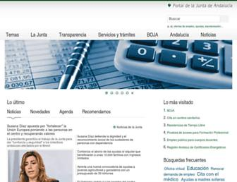 Main page screenshot of juntadeandalucia.es