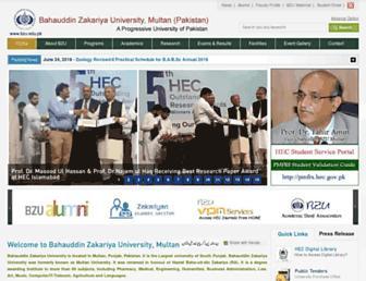 bzu.edu.pk screenshot