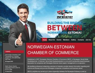 Main page screenshot of necc.ee