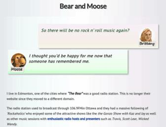 Main page screenshot of thebear.fm