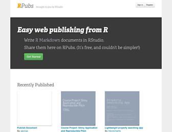 rpubs.com screenshot