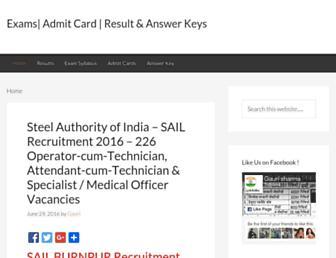 admitcardresultkey.in screenshot