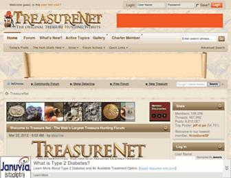 treasurenet.com screenshot