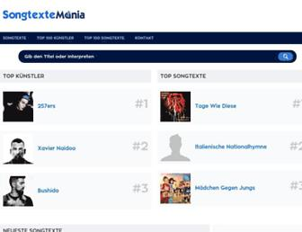 songtextemania.com screenshot
