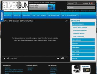 Main page screenshot of silversun.co