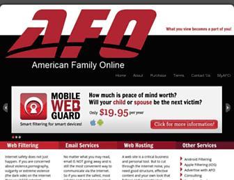 Main page screenshot of afo.net