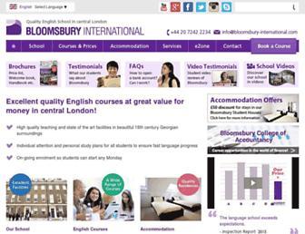 bloomsbury-international.com screenshot