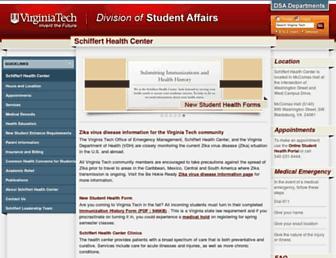healthcenter.vt.edu screenshot
