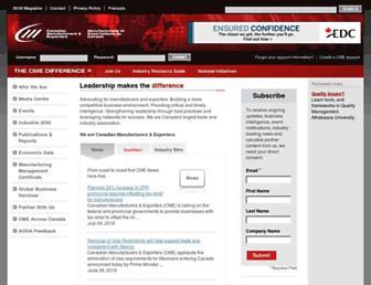 Main page screenshot of cme-mec.ca
