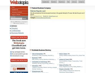 Main page screenshot of webotopia.org
