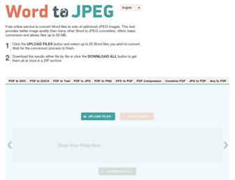 wordtojpeg.com screenshot