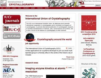 iucr.org screenshot